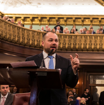 Corey Johnson, the new speaker of the New York City Council